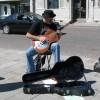 Sonny Slide playing at Joe's MILL Buskathon 2010 in Kingston's Market Square